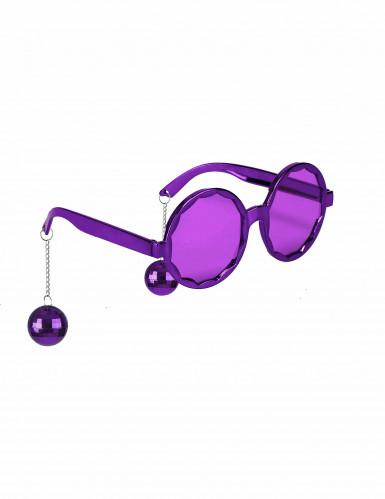 Lunettes violette disco adulte