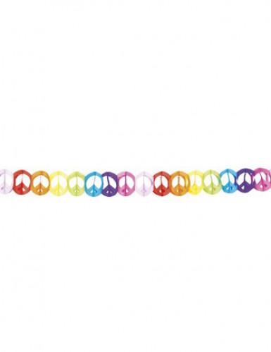 Guirlande multicolore papier hippie 4 mètres