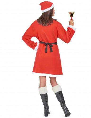 Déguisement Mère Noël robe courte femme-2