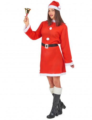 Déguisement Mère Noël robe courte femme-1