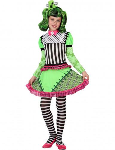 Déguisement monstre vert fille Halloween