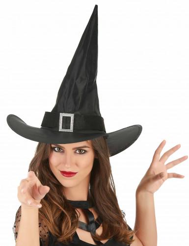 Chapeau sorcière avec boucle adulte Halloween-1
