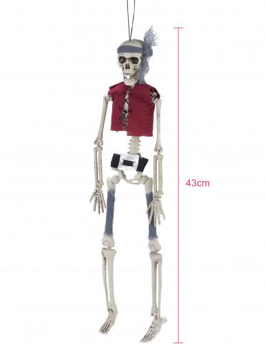 Décoration à suspendre squelette pirate 40 cm-1