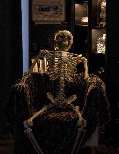 Décoration à suspendre squelette Halloween 160 cm-1