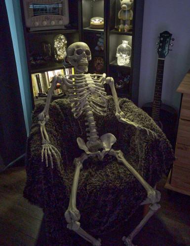 Décoration à suspendre squelette Halloween 160 cm-2