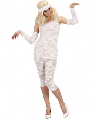 Déguisement momie femme blanc Halloween