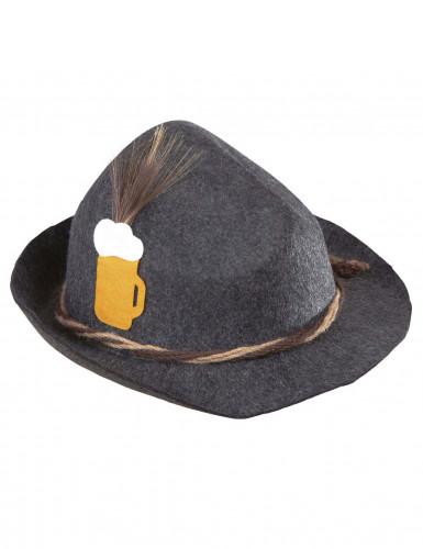 Chapeau bavarois gris adulte-1