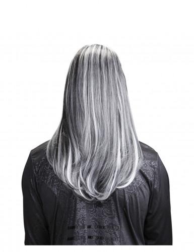 Perruque longue vampire bicolore adulte Halloween-1