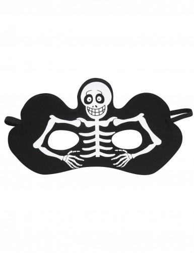 Loup squelette noir adulte Halloween