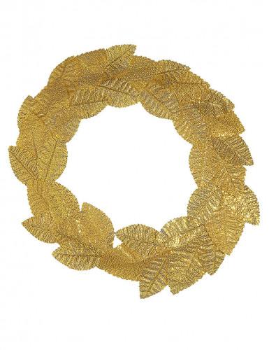 Couronne feuilles de laurier dorées adulte-1