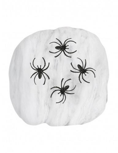 Fausse toile d'araignée blanche 50g Halloween-1