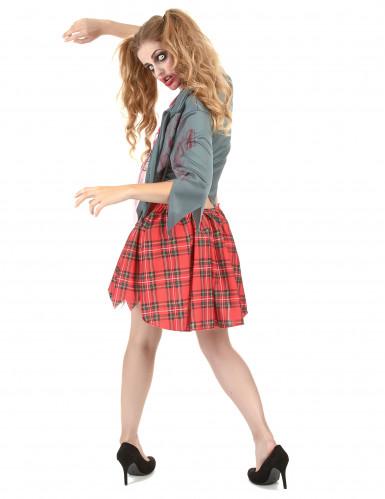 Déguisement zombie écolière femme Halloween-2