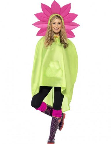Poncho fleur adulte