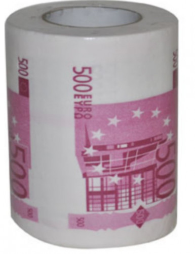 Papier toilette humoristique billet500 euros