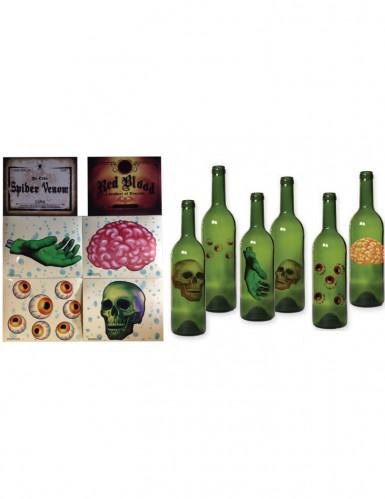 Lot 6 décorations pour bouteille Halloween