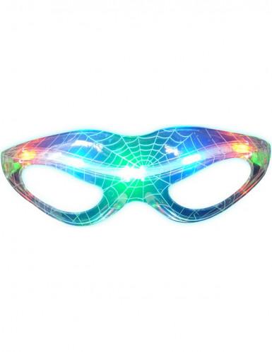 Lunettes lumineuses transparentes toile d'araignées