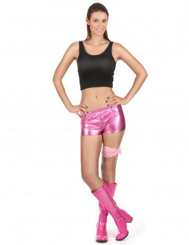 Shorty disco rose brillant femme
