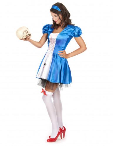 Déguisement princesse des merveilles ensanglantée femme Halloween-1