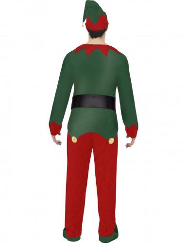 Déguisement elfe bicolore homme Noël-1