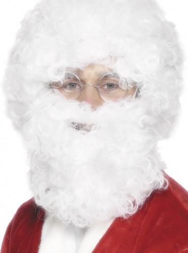 Barbe et perruque blanche adulte Noël