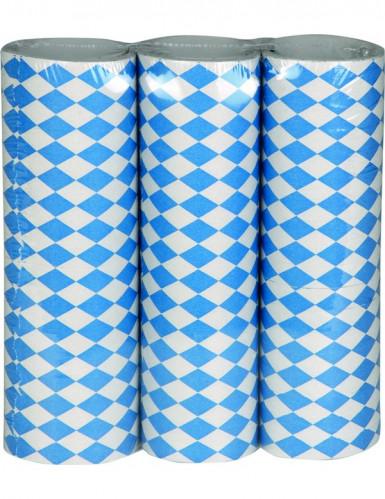Lot 3 serpentins bleus et blancs Fête de la bière