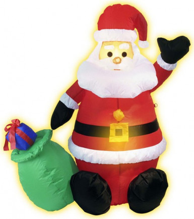 Décoration Père Noël gonflable et lumineux 120 cm Noël