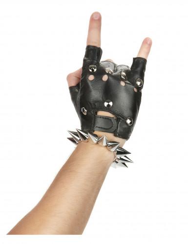 Bracelet punk argenté-1