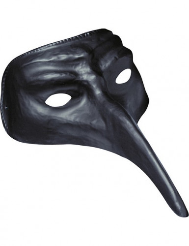 Masque long nez noir adulte