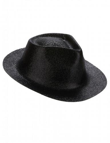 Chapeau pailleté noir adulte