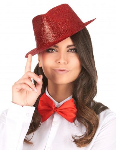 Chapeau pailleté rouge adulte-1