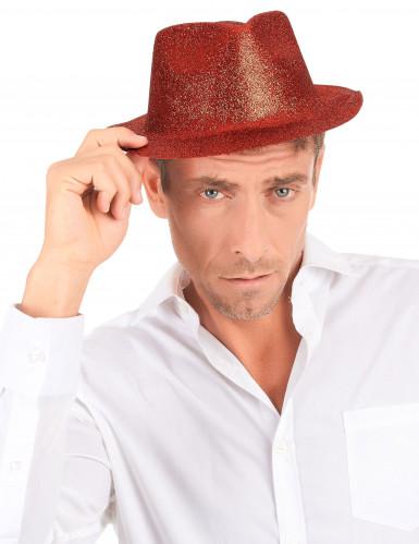 Chapeau pailleté rouge adulte-2