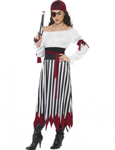 Déguisement pirate rayé femme