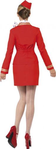Déguisement hôtesse de l'air rouge femme-2