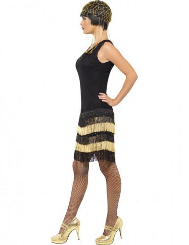 Déguisement charleston noir et doré femme-1