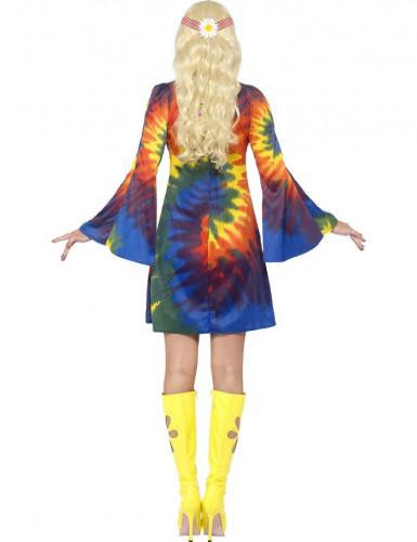 Déguisement hippie multicolore femme-2