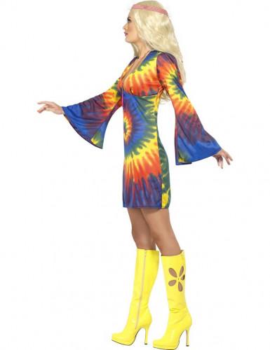 Déguisement hippie multicolore femme-1