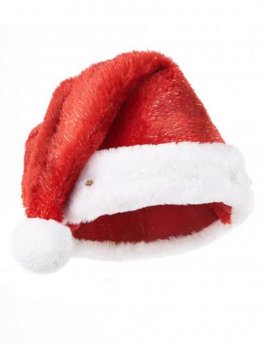 Bonnet de Père Noël rouge lumineux