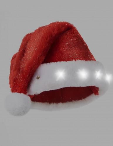 Bonnet de Père Noël rouge lumineux-1