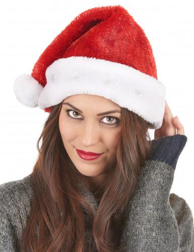 Bonnet de Père Noël rouge lumineux-2