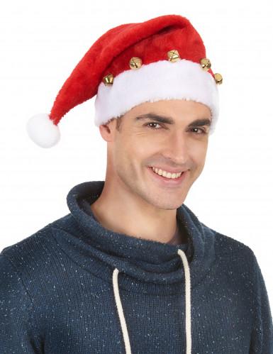 Bonnet de Père Noël avec grelots-1