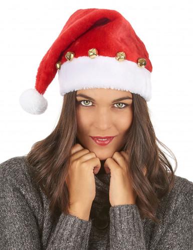 Bonnet de Père Noël avec grelots-2