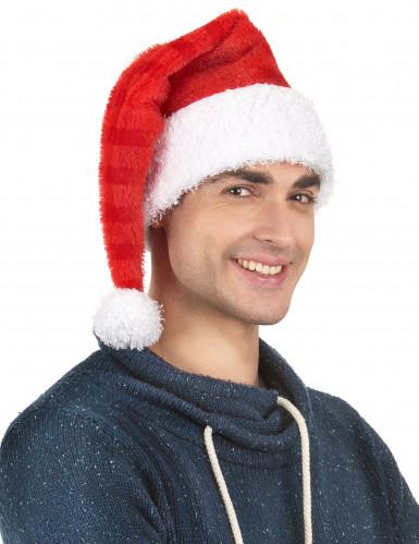 Bonnet Père Noël rayures-1