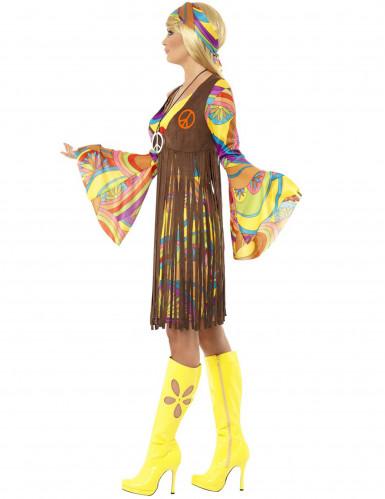 Déguisement hippie fleurs année 70 femme-1