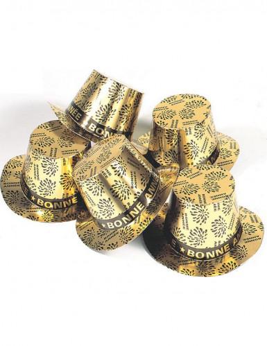 Chapeau haut de forme doré Bonne année