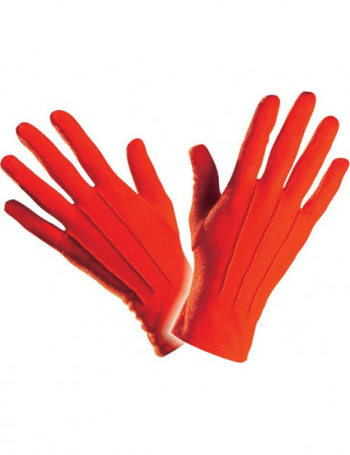 Gants courts rouges adulte