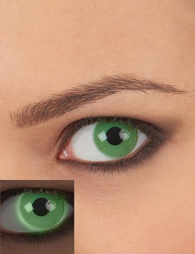 Lentilles fantaisie UV vert adulte