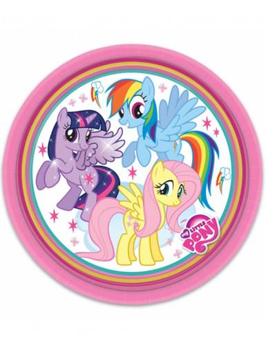 8 Assiettes en carton Mon petit poney™ 23 cm