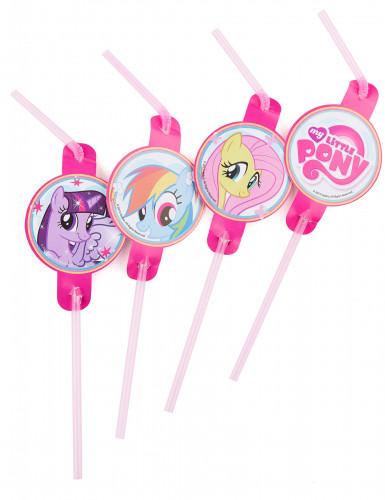 8 Pailles My little Pony™ 24 cm