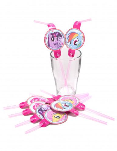 8 Pailles My little Pony™ 24 cm-1