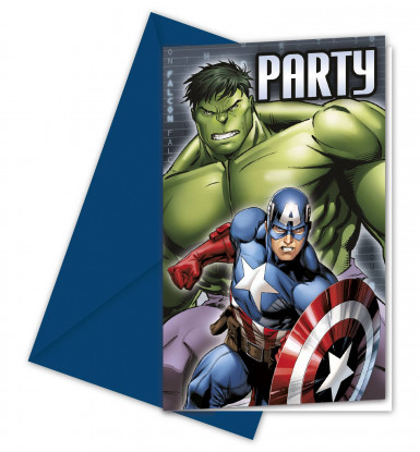 6 Cartes d'invitation Avengers™